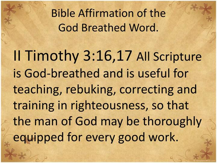 Bible Affirmation of the