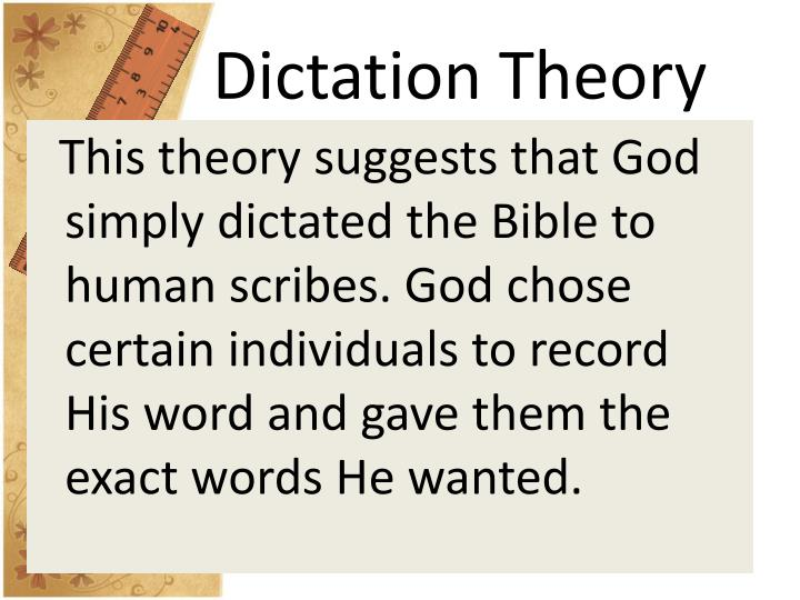 Dictation Theory