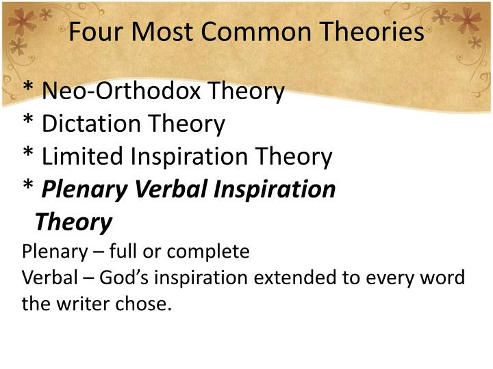 Four Most Common Theories