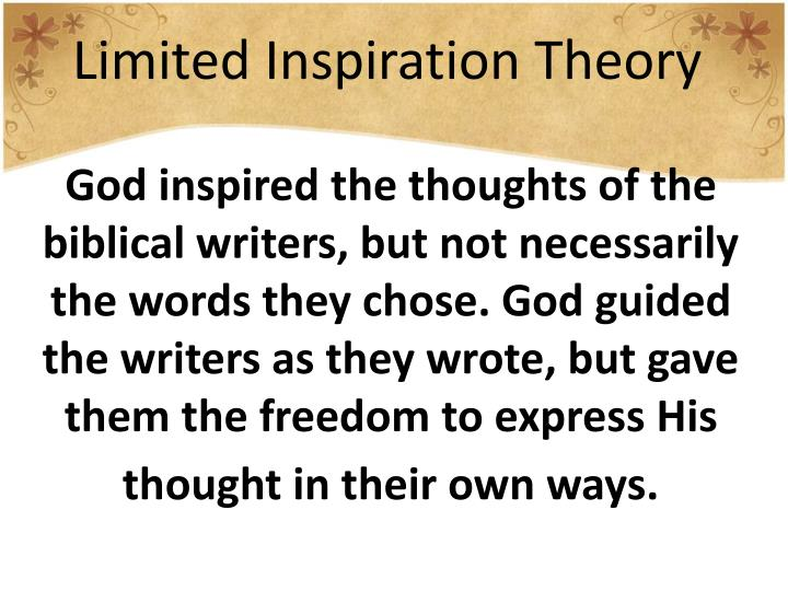 Limited Inspiration Theory