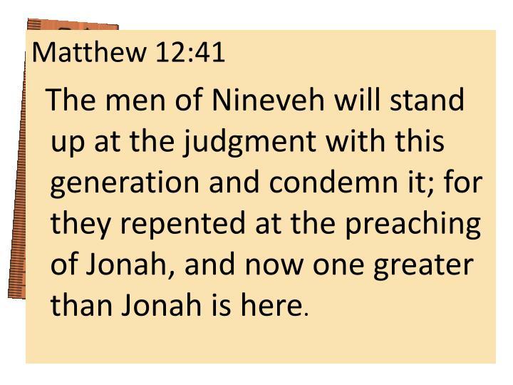 Matthew 12:41