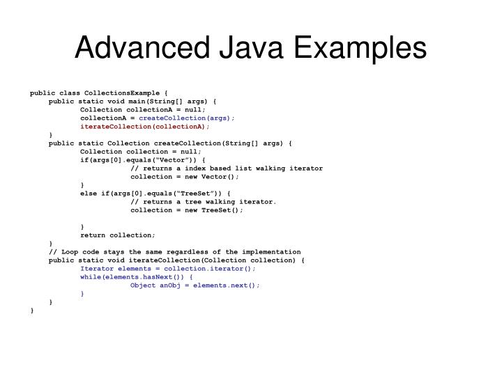 Advanced Java Examples