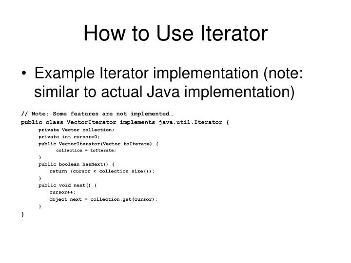 How to Use Iterator