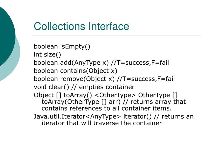 Collections Interface