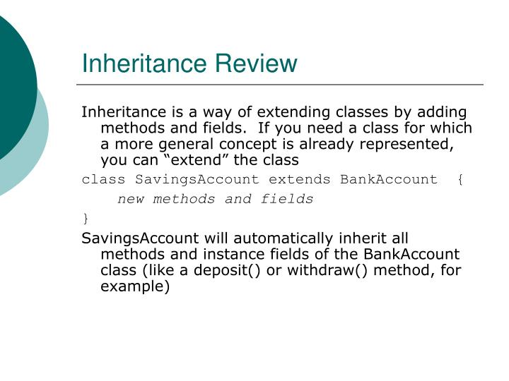 Inheritance Review