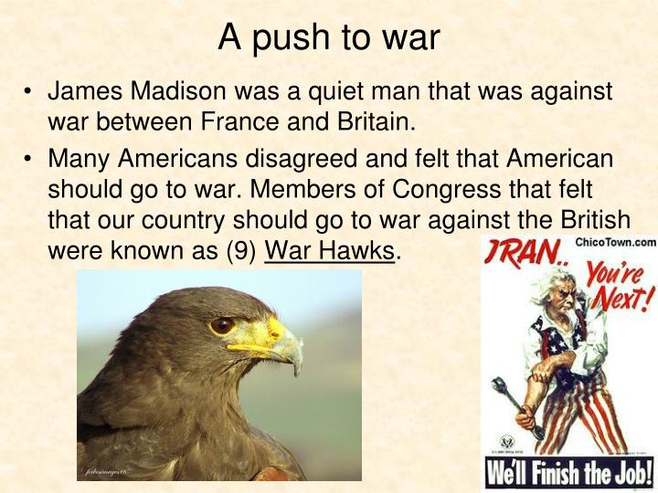 A push to war