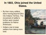 in 1803 ohio joined the united states