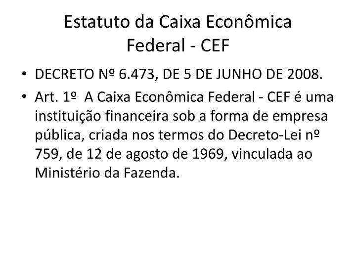 Estatuto da Caixa Econômica