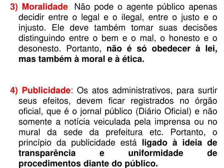 3) Moralidade