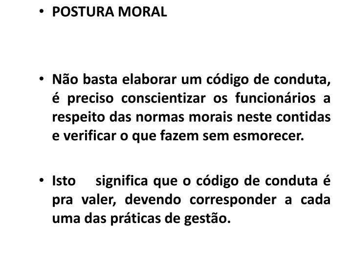 POSTURA MORAL