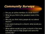 community surveys
