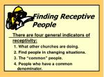 finding receptive people1