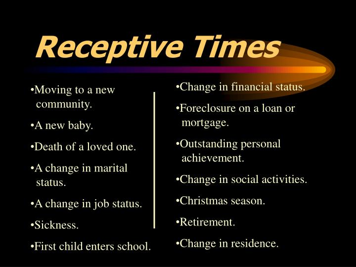Receptive Times