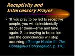 receptivity and intercessory prayer1