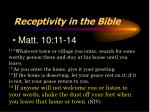 receptivity in the bible1