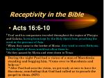 receptivity in the bible2
