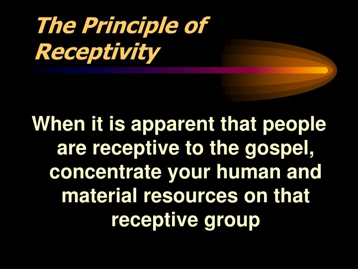 The Principle of Receptivity