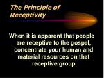 the principle of receptivity