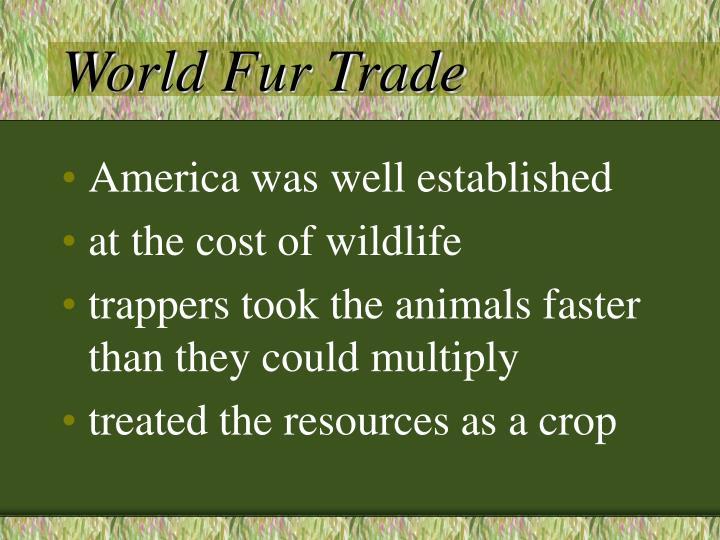 World Fur Trade