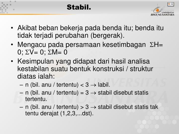 Stabil.