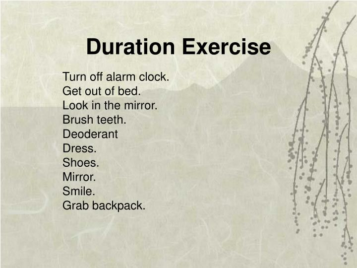 Duration Exercise