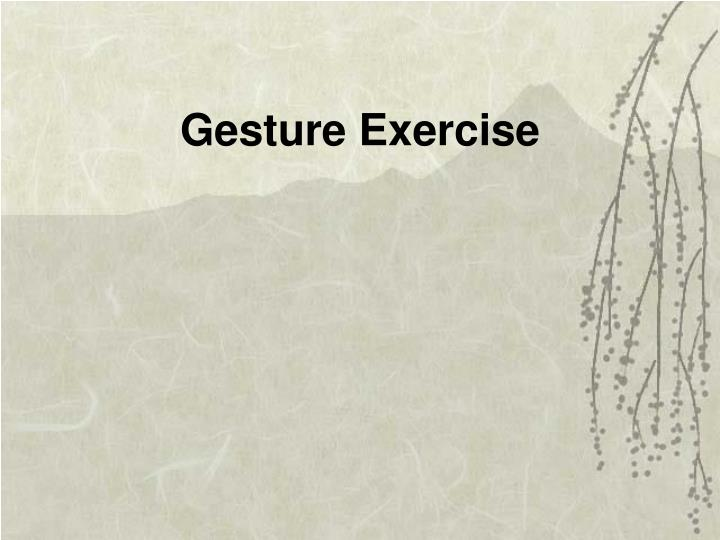 Gesture Exercise