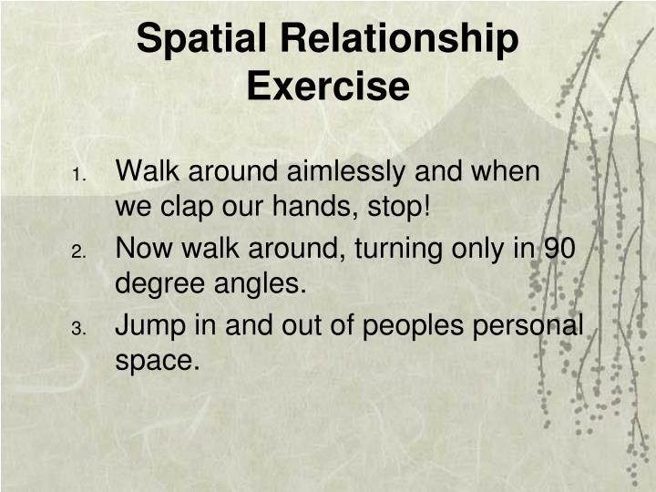 Spatial Relationship Exercise