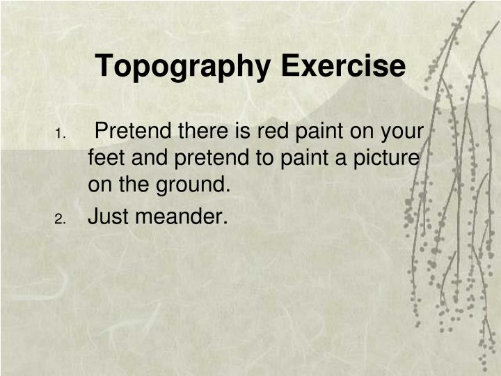 Topography Exercise