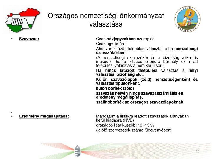 Országos nemzetiségi önkormányzat választása