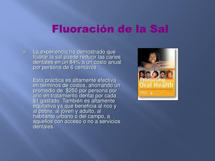 Fluoración de la Sal