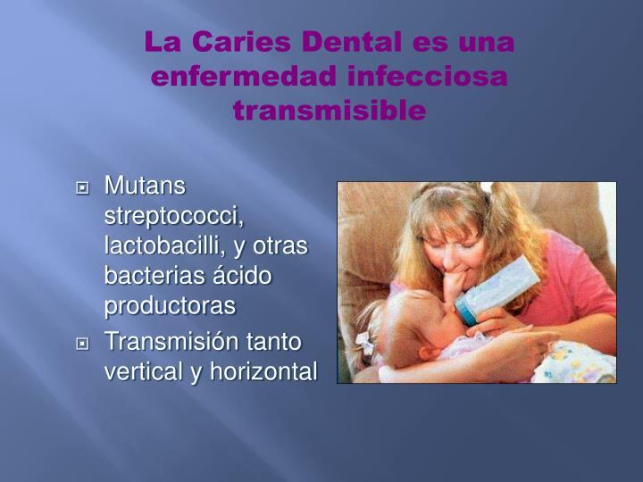 La Caries Dental es una enfermedad infecciosa transmisible