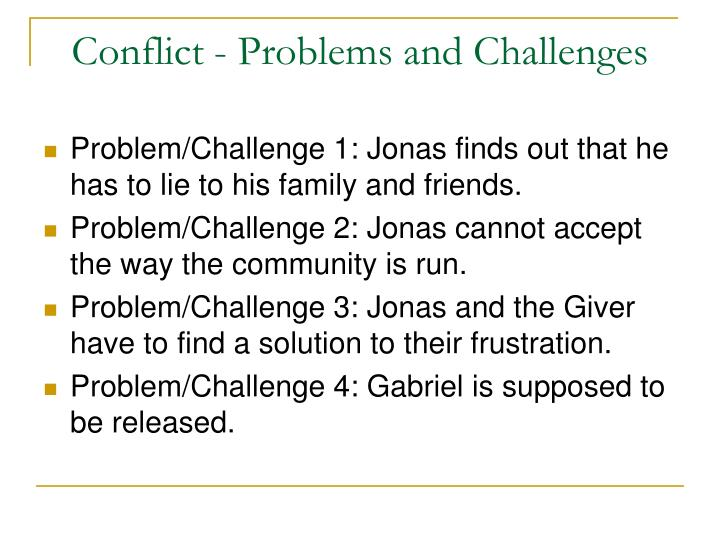 Conflict - Problems and Challenges