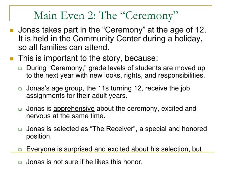 "Main Even 2: The ""Ceremony"""