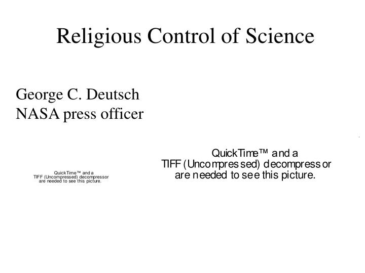 Religious Control of Science