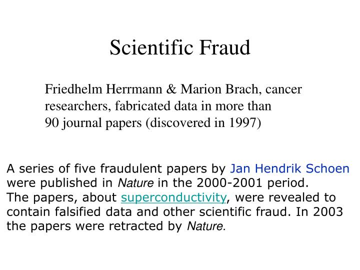 Scientific Fraud