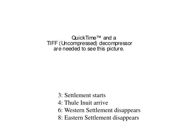 3: Settlement starts