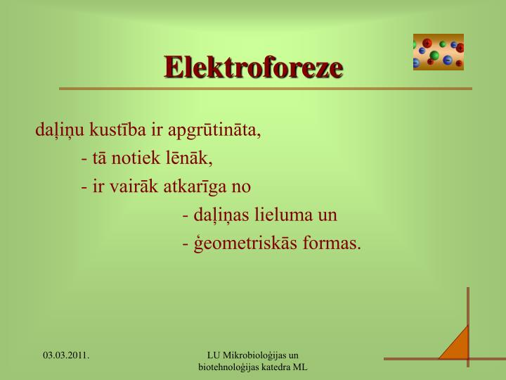 Elektroforeze