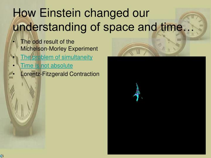 How Einstein changed our understanding of space and time…