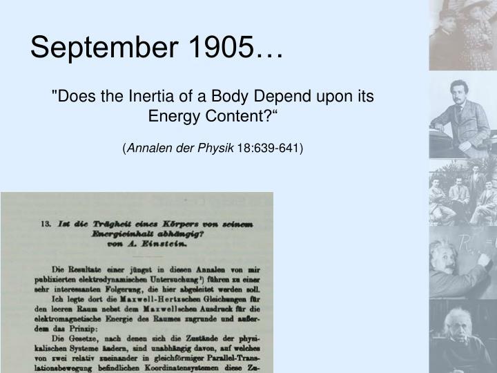 September 1905…