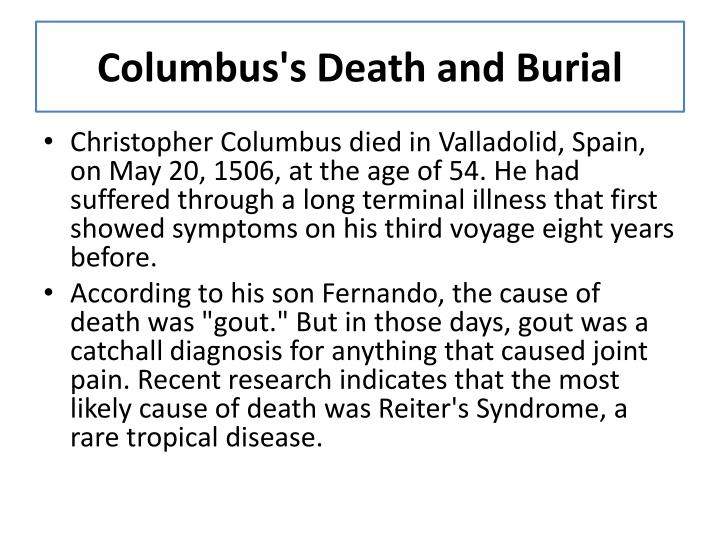 Columbus's Death and Burial