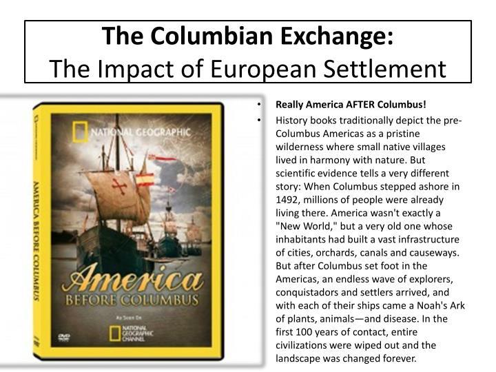 The Columbian Exchange: