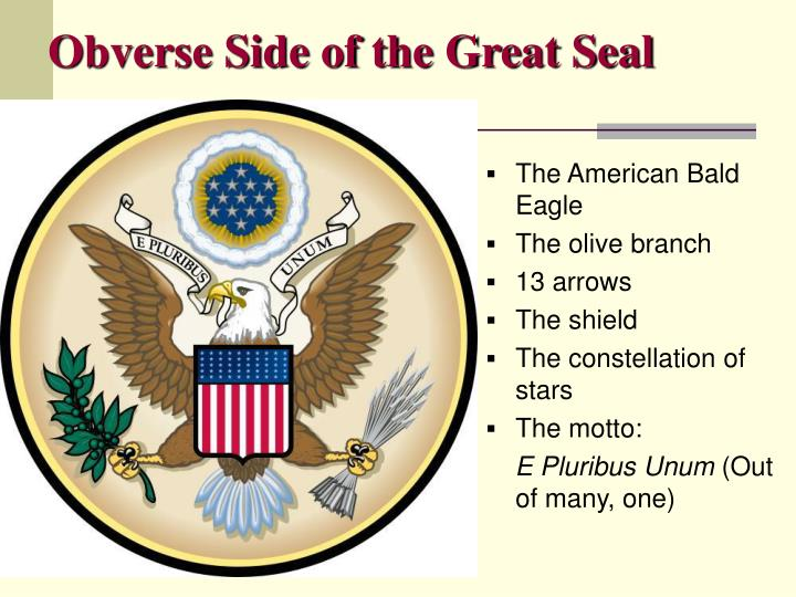 Obverse side of the great seal