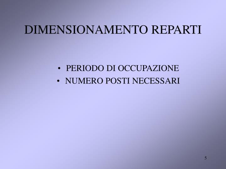 DIMENSIONAMENTO REPARTI