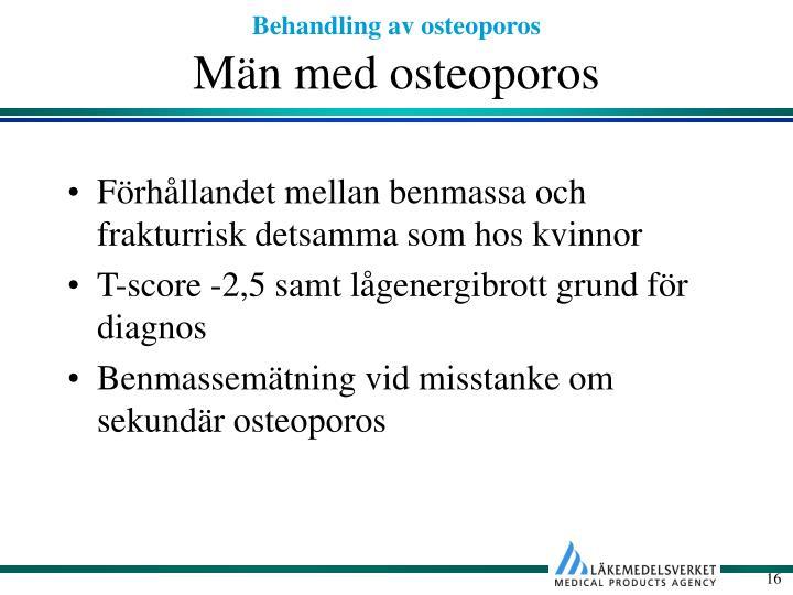 Män med osteoporos