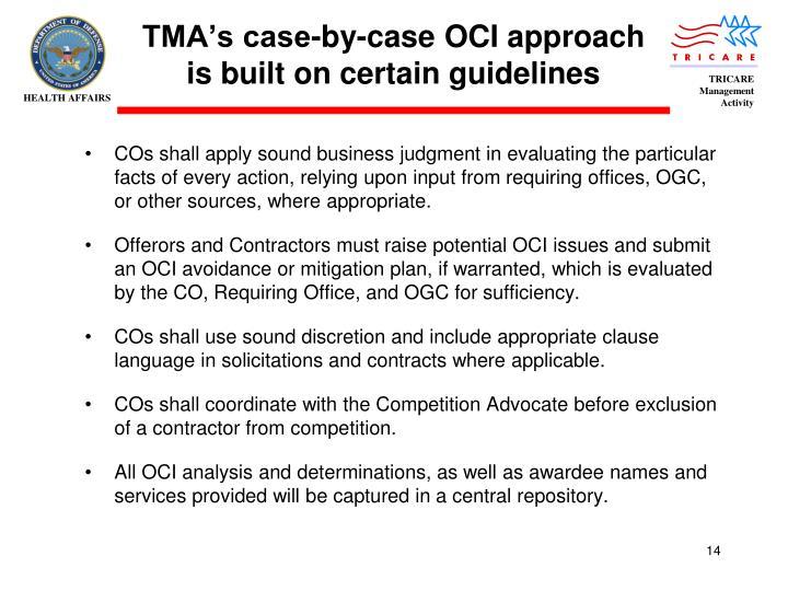 TMA's case-by-case OCI approach