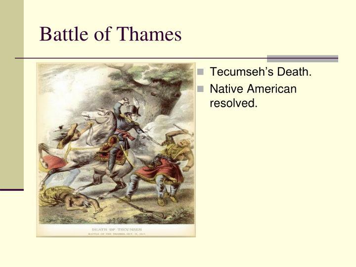 Tecumseh's Death.