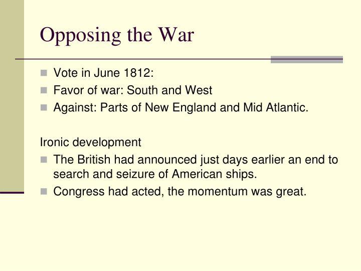 Opposing the War