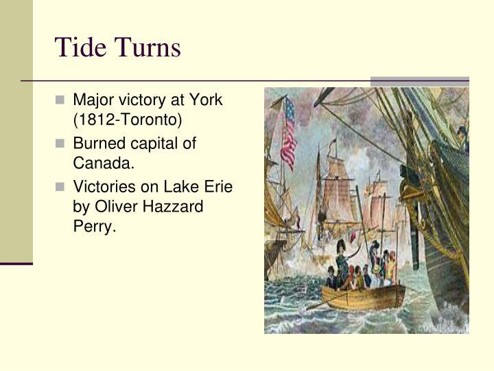 Major victory at York (1812-Toronto)