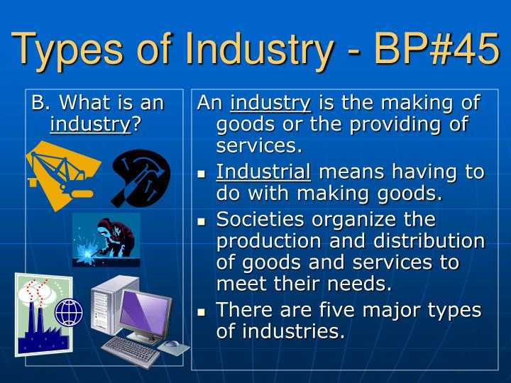 Types of industry bp 45