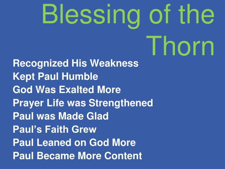 Blessing of the Thorn